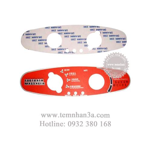 In tem nhựa phím nổi cho các loại máy móc công nghiệp