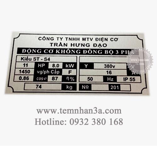 In tem nhãn mác máy bơm tại 3A Việt Nam